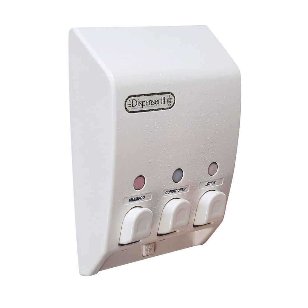 Classic Triple Dispenser in White