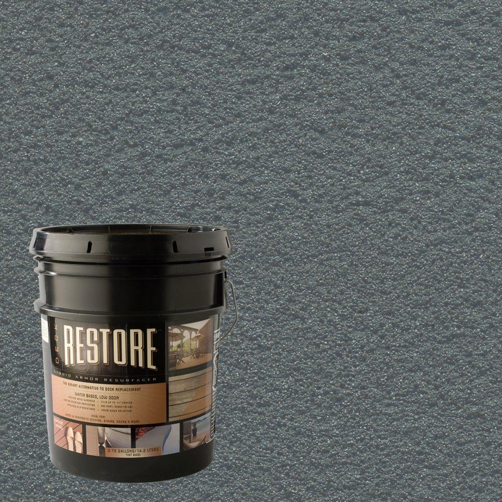 Restore Deck Liquid Armor Resurfacer 4 gal. Water Based Gray Exterior Coating