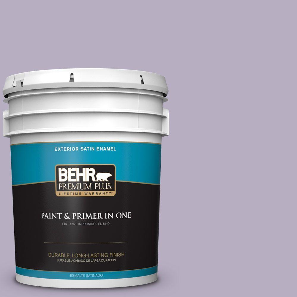 BEHR Premium Plus 5-gal. #BIC-07 Virtuous Violet Satin Enamel Exterior Paint