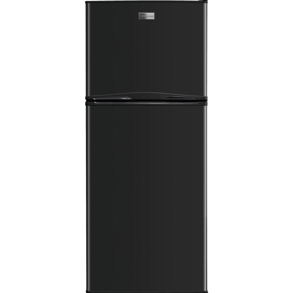 refrigerator 10 cu ft. frigidaire 10 cu. ft. top freezer refrigerator in black cu ft f