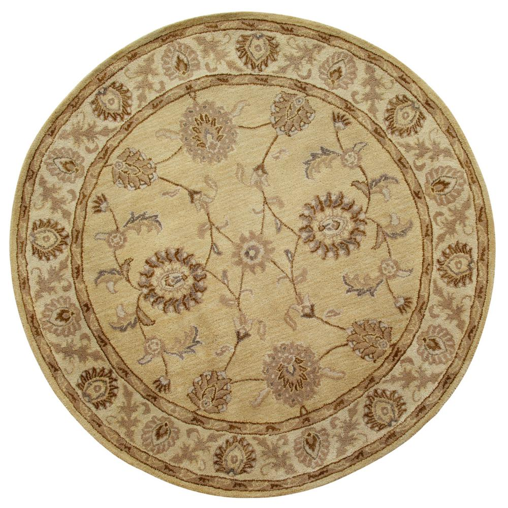 Charisma Champagne 5 ft. 3 in. Round Indoor Area Rug