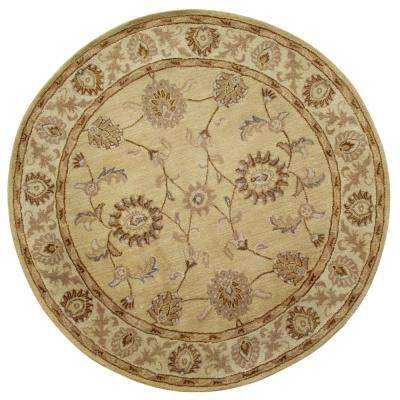 Charisma Champagne 8 ft. Round Indoor Area Rug