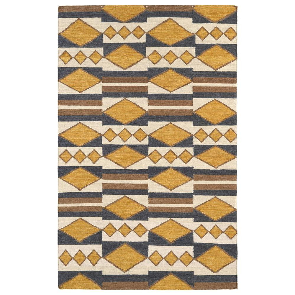 Kaleen Middleton Gold 9 Ft X 12 Area Rug Mid08 05 912 The