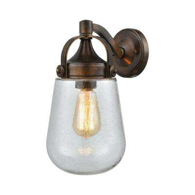 Lowden 1-Light Hazelnut Bronze Outdoor Wall Sconce