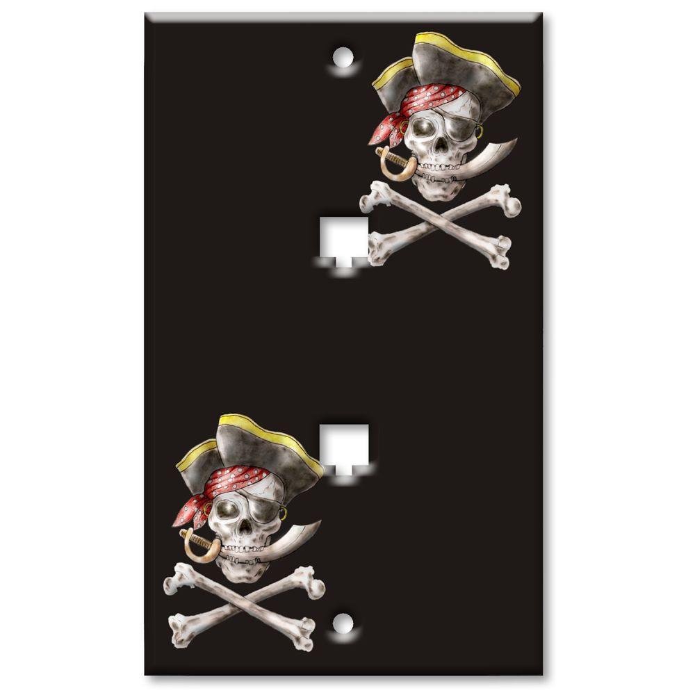 Art Plates Pirate 2 Cat5 Wall Plate