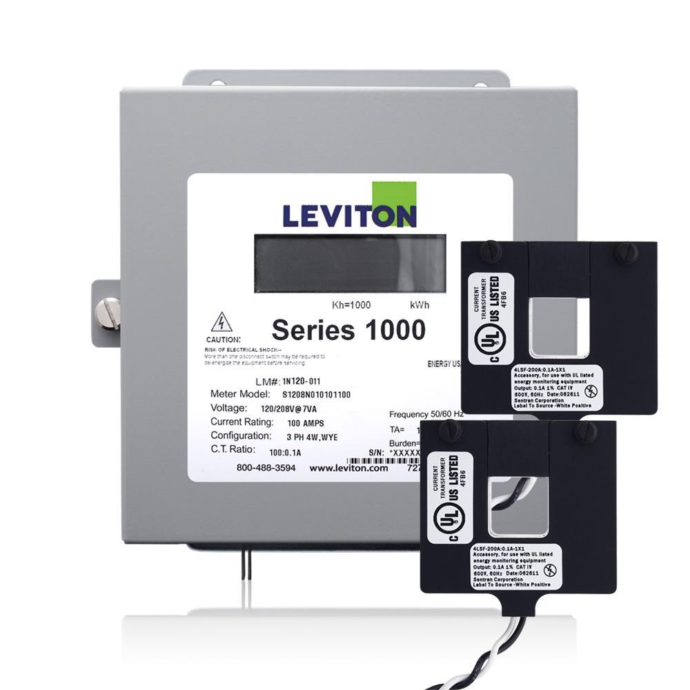 Series 1000 Single Phase Indoor Meter Kit, 277-Volt 100 Amp 1P2-Watt