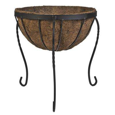 Canterbury 14 in. Metal Basket Stand Planter