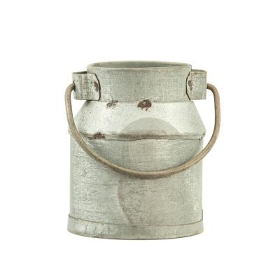 2 in. W x 1.5 in. H Silver Galvanized Metal Vintage Milk Can Shaped Napkin Rings (Set of 4)