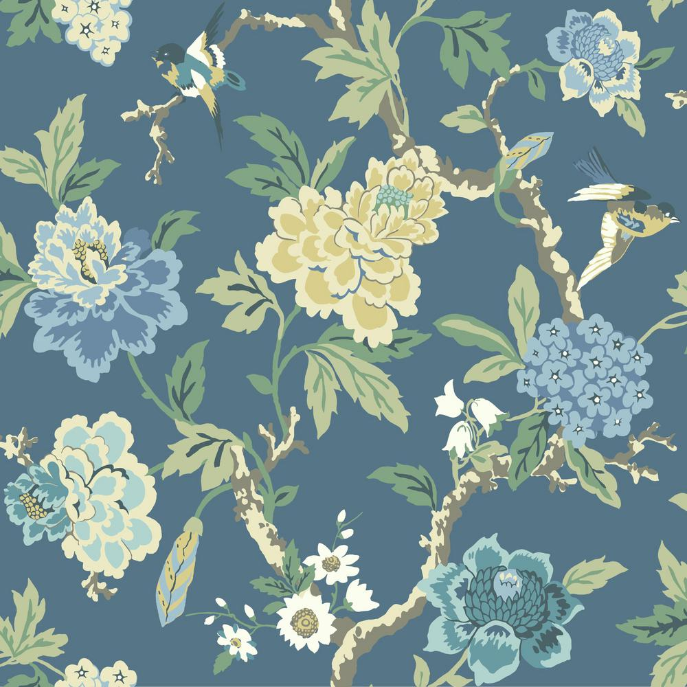 York wallcoverings waverly how does your garden wallpaper for Waverly wallpaper
