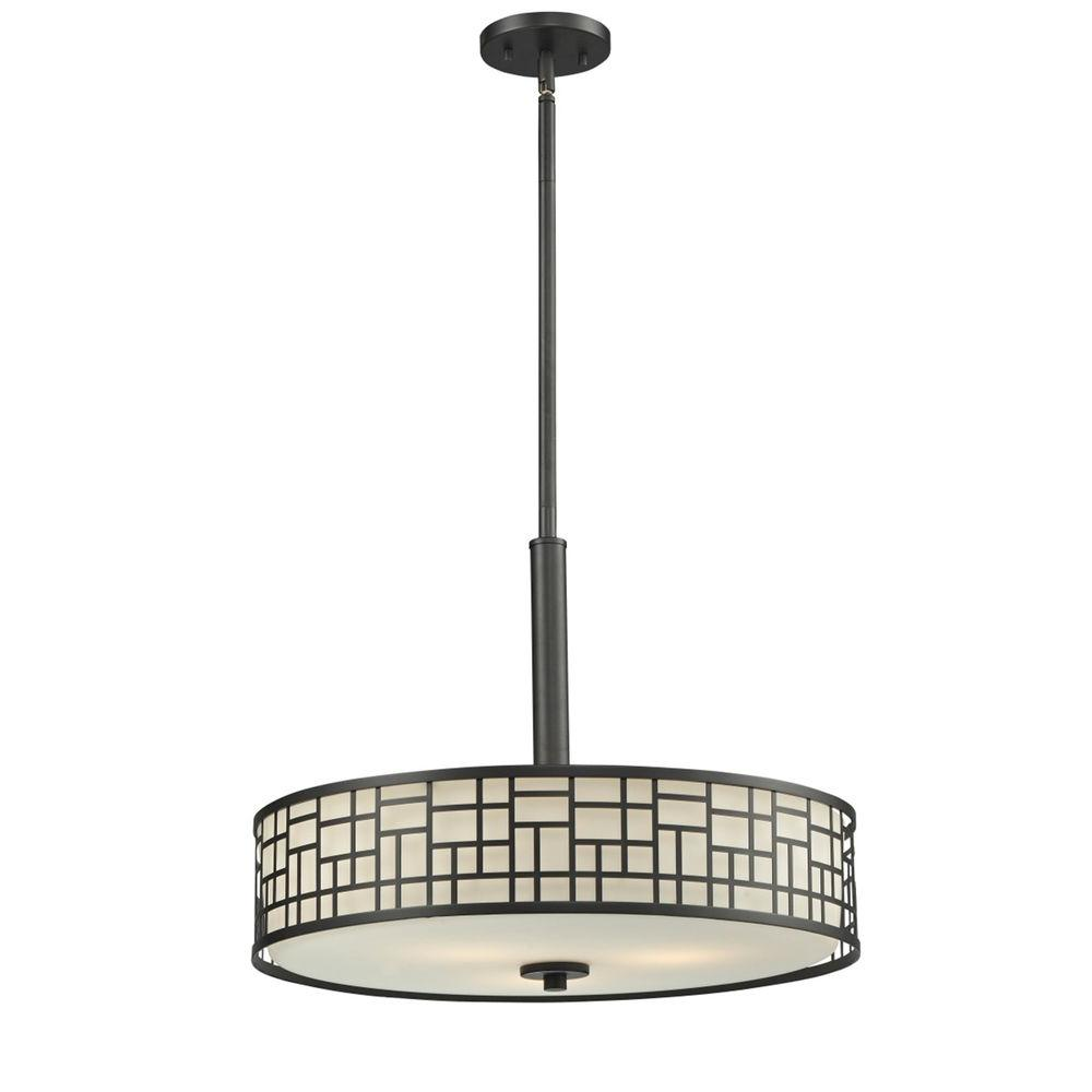 Filament Design Velia 3-Light Bronze Pendant-CLI-JB-028614