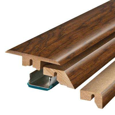 Highland Hickory 3/4 in. Thick x 2-1/8 in. Wide x 78-3/4 in. Length Laminate 4-in-1 Molding