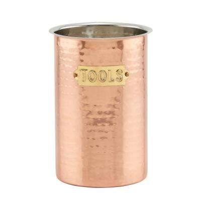 Hammered Decor Copper Tool Caddy