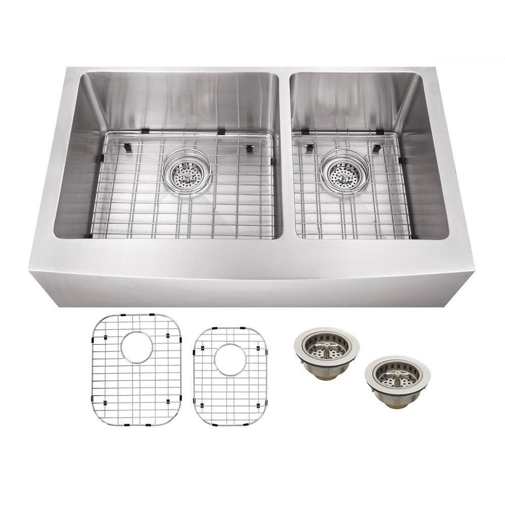 Schon All In One Apron Front Undermount Stainless Steel 33