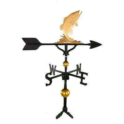 32 in. Deluxe Gold Bass Weathervane