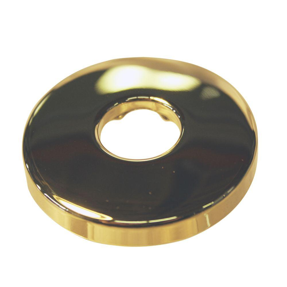 Westbrass 1/2 in. IPS Shallow Shower Arm Flange in Polished Brass-DISCONTINUED