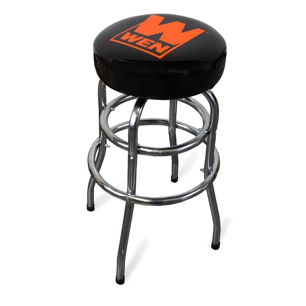 Peachy Wen 300 Lb Capacity Chrome Plated Bar Stool 73014 The Inzonedesignstudio Interior Chair Design Inzonedesignstudiocom