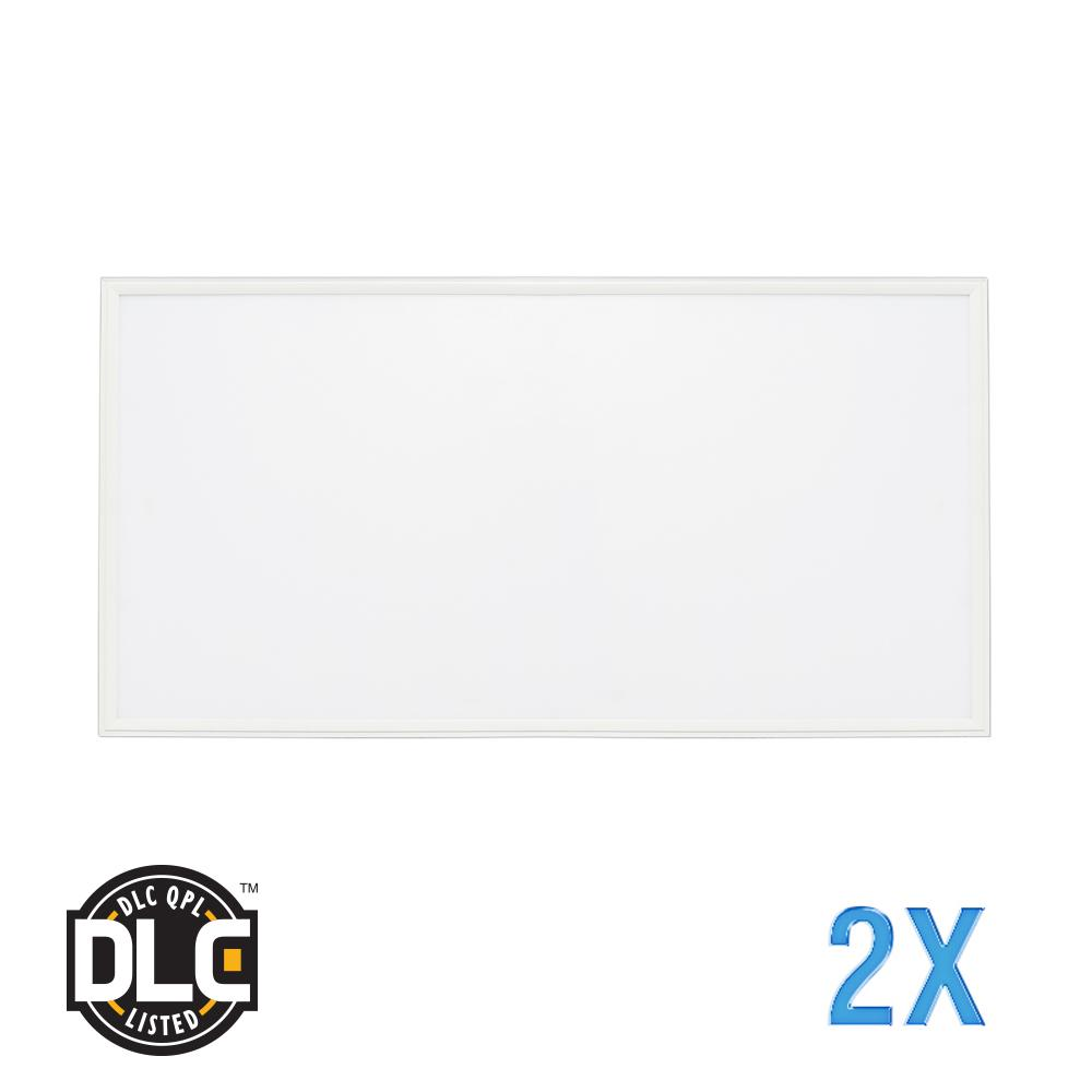 2 x 2 Flat Panel 4000K 120-Watt Equivalent White Edge-Lit Integrated