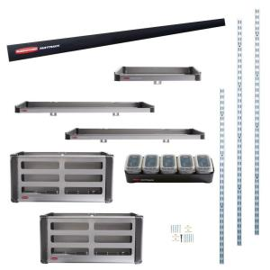 Rubbermaid FastTrack Garage Rail Accessory Starter Kit (11-Piece) by Rubbermaid