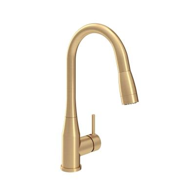 Sereno Single-Handle Pull-Down Sprayer Kitchen Faucet in Brushed Gold