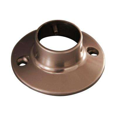 2-2/4 in. Heavy Round Shower Rod Flanges in Brushed Nickel
