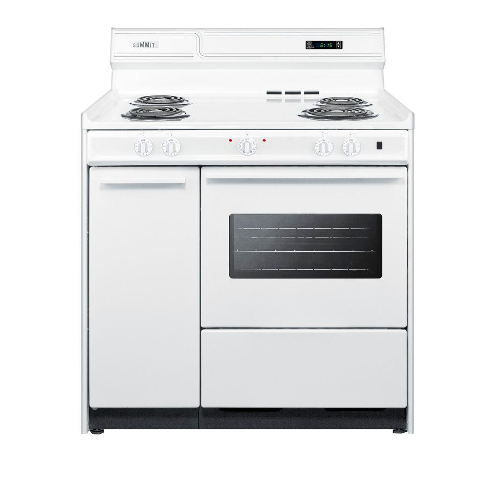 Summit Appliance 36 in. 2.9 cu. ft. Electric Range in White-WEM430KW ...