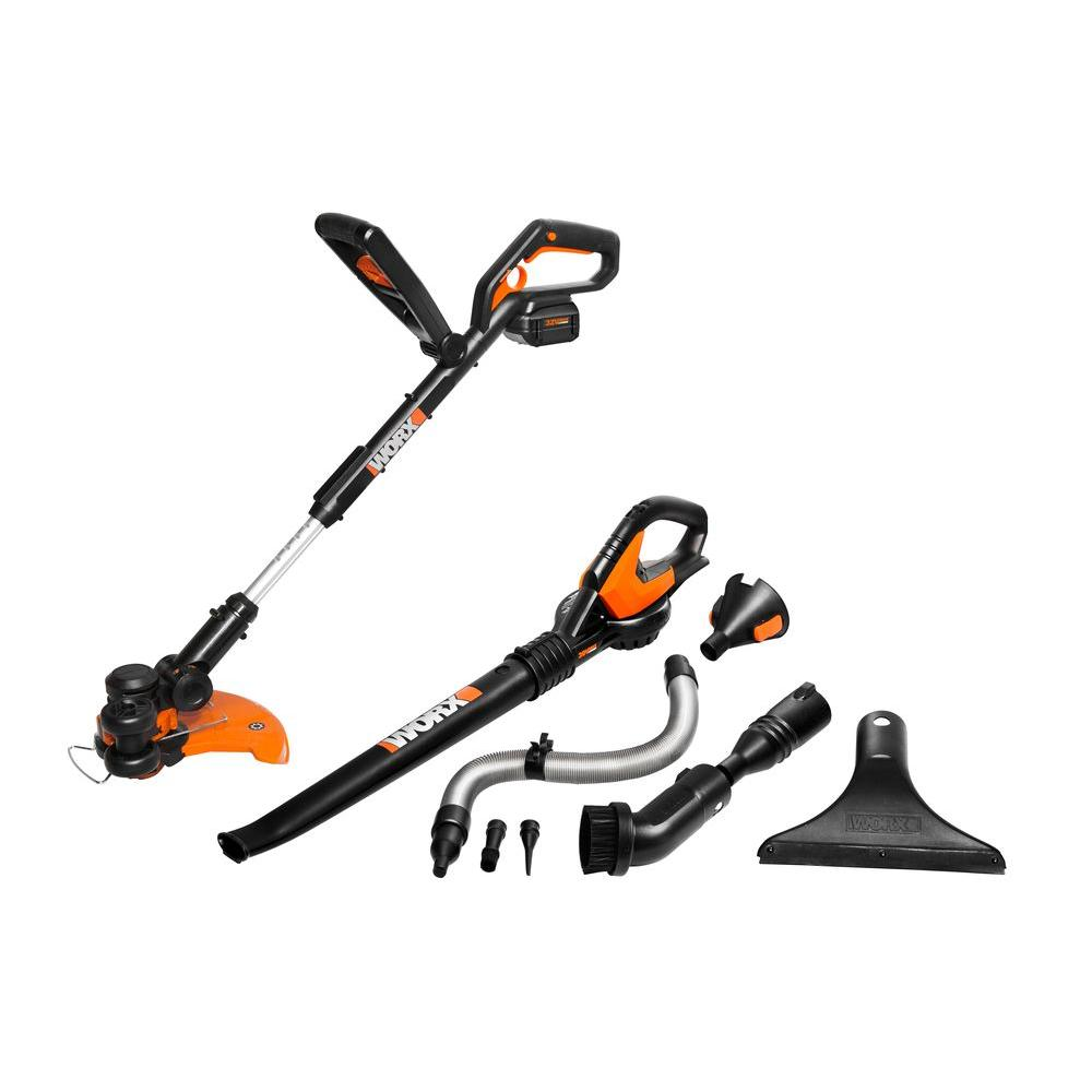Worx Cordless Combo Kit 32 Volt Lithium-Ion with Air Accessories (2-Piece)