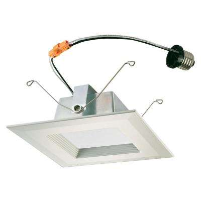 6 in. Square White Integrated LED Recessed Trim