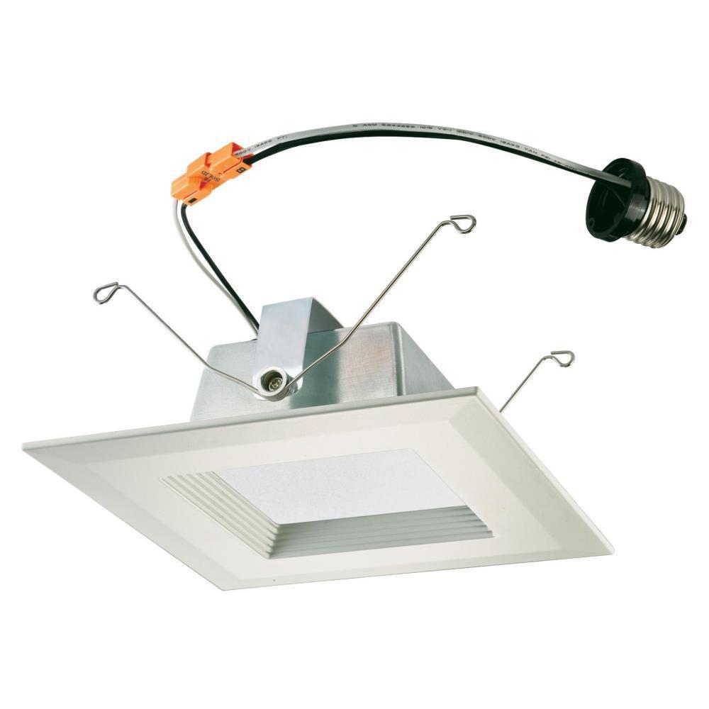 6 in. Square White Integrated LED Recessed Trim