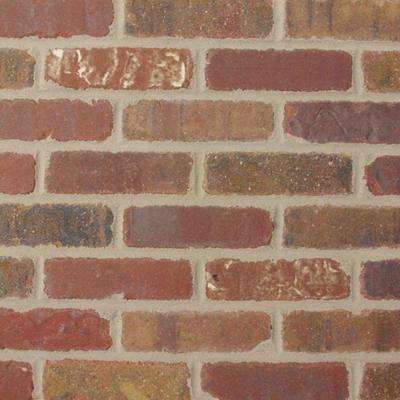 Colonial Collection Columbia Street 7.5 in. x 2.25 in. x 9/16 in. Clay Thin Brick Corners (Case of 25)