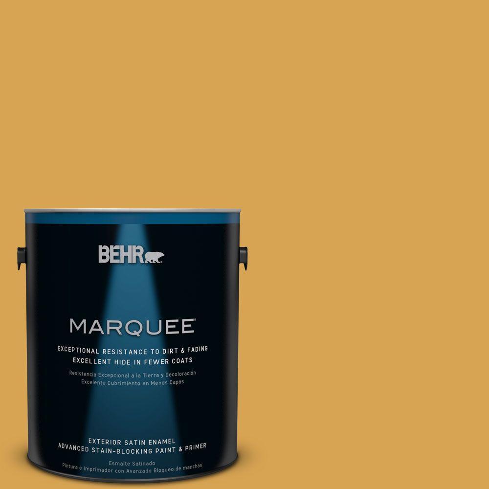 1-gal. #M290-6 Plantain Chips Satin Enamel Exterior Paint
