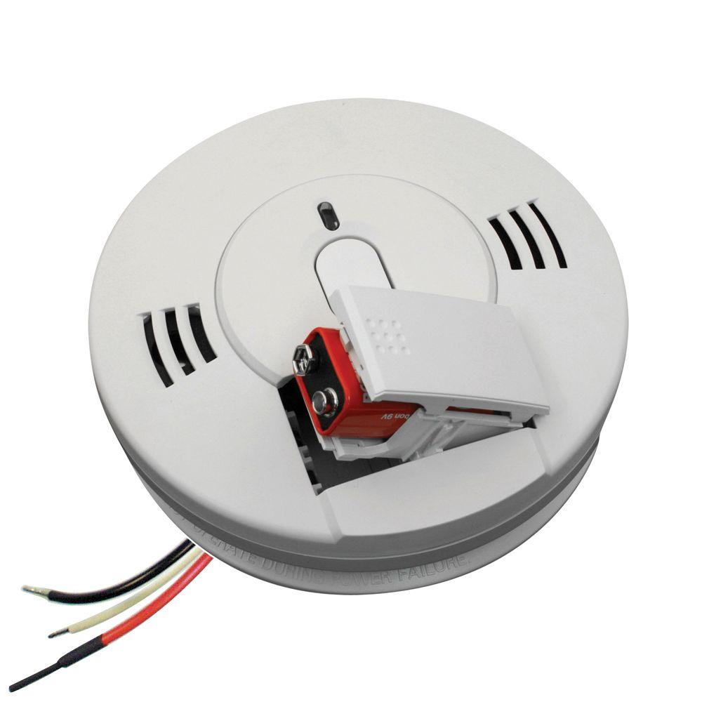 Kidde 120-Volt Hardwired Inter-Connectable Smoke and Carbon Monoxide Alarm with Battery Backup  sc 1 st  The Home Depot : kidde smoke detector wiring diagram - yogabreezes.com