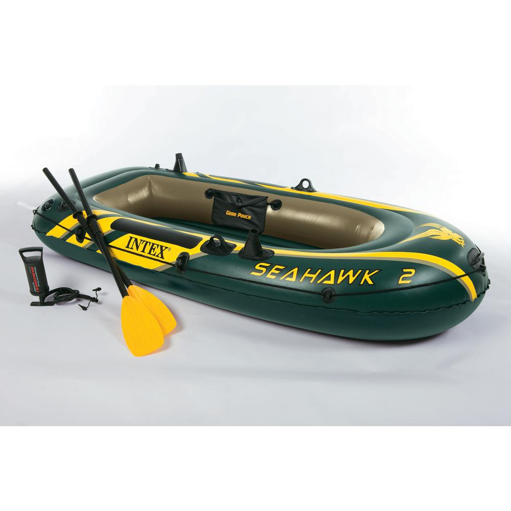 Intex Recreation Inflatable Seahawk 2 Two-Person Boat with Oars and Pump