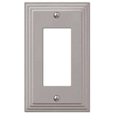 Tiered 1-Gang Decora Wall Plate, Satin Nickel Cast