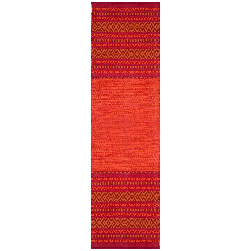 Montauk Orange/Red 2 ft. 3 in. x 8 ft. Runner Rug