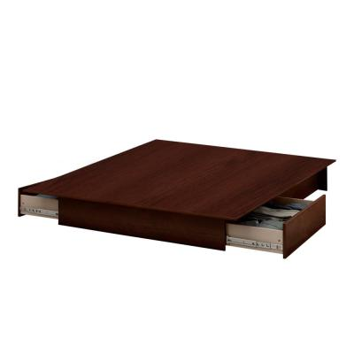 Step One Sumptuous Cherry Queen Platform Bed with Storage