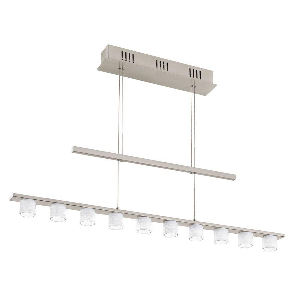 null Pulsano 100-Watt Matte Nickel Integrated LED Pendant