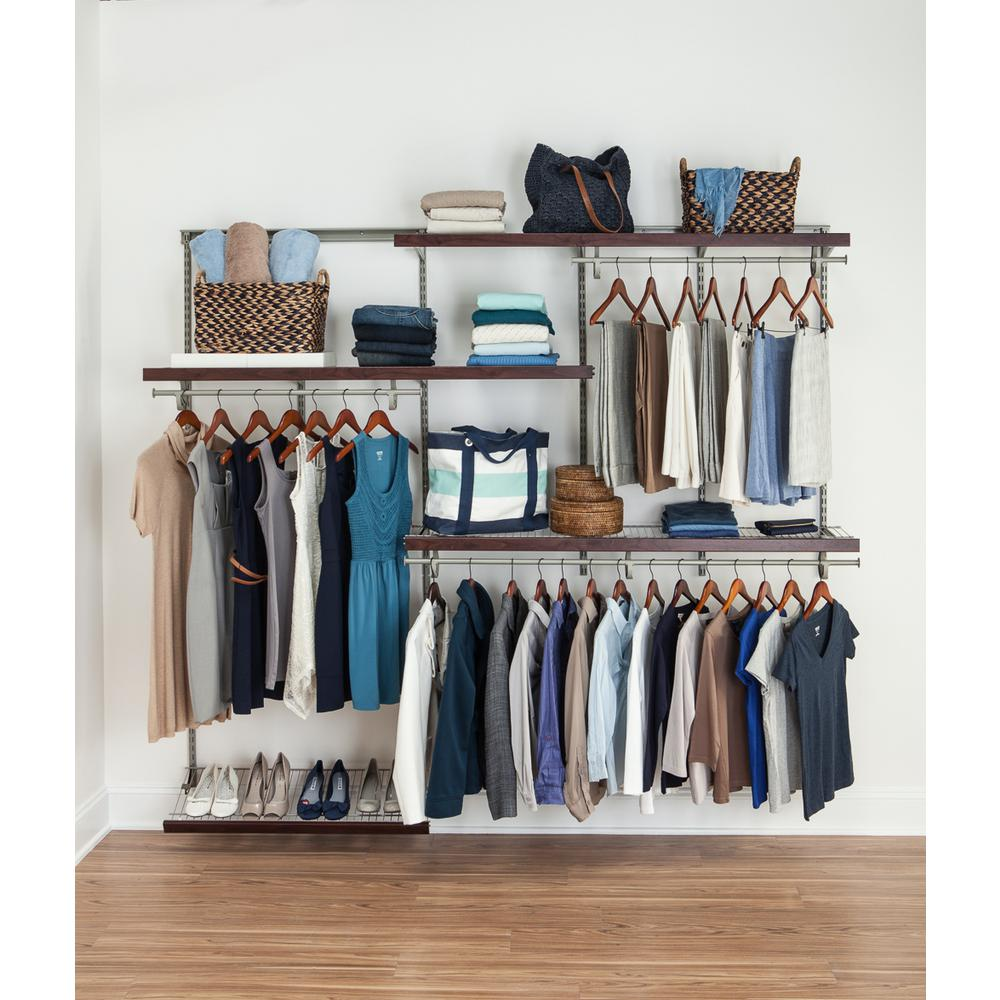 ShelfTrack 5 ft. to 8 ft. Nickel Wire Closet Organizer Kit