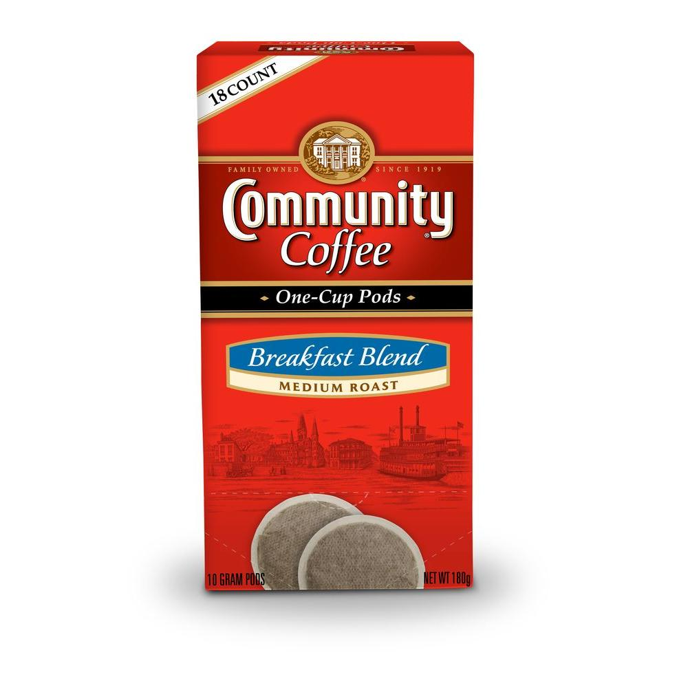 Community Coffee Breakfast Blend Single Cup Coffee Pods, 18-count-DISCONTINUED