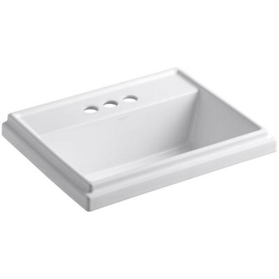 Tresham Drop-In Vitreous China Bathroom Sink in White with Overflow Drain