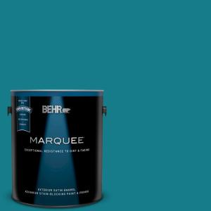 1 gal. #PPU13-01 Caribe Satin Enamel Exterior Paint and Primer in One