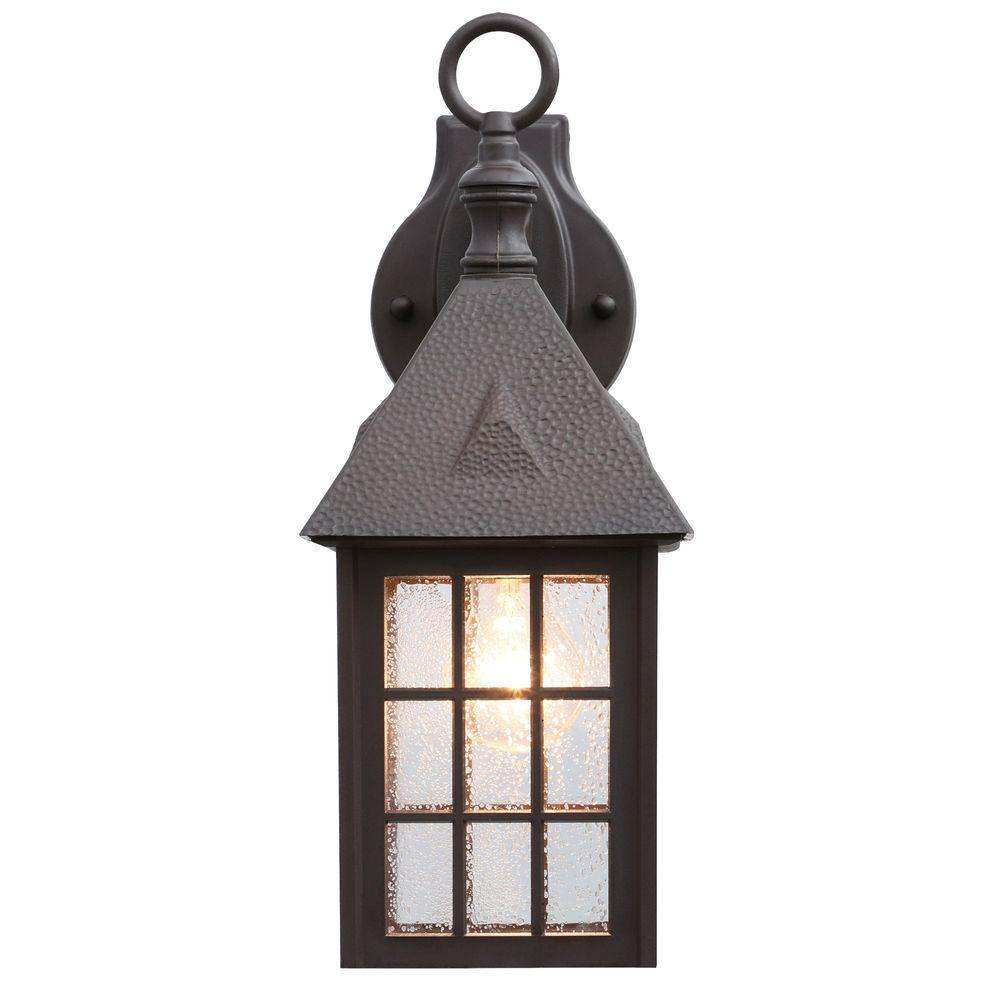 Acclaim Lighting Outer Banks Collection 1-Light Architectural Bronze Outdoor Wall-Mount Fixture