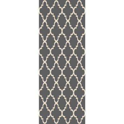 Hamam Collection Grey 2 ft. x 5 ft. Runner Rug