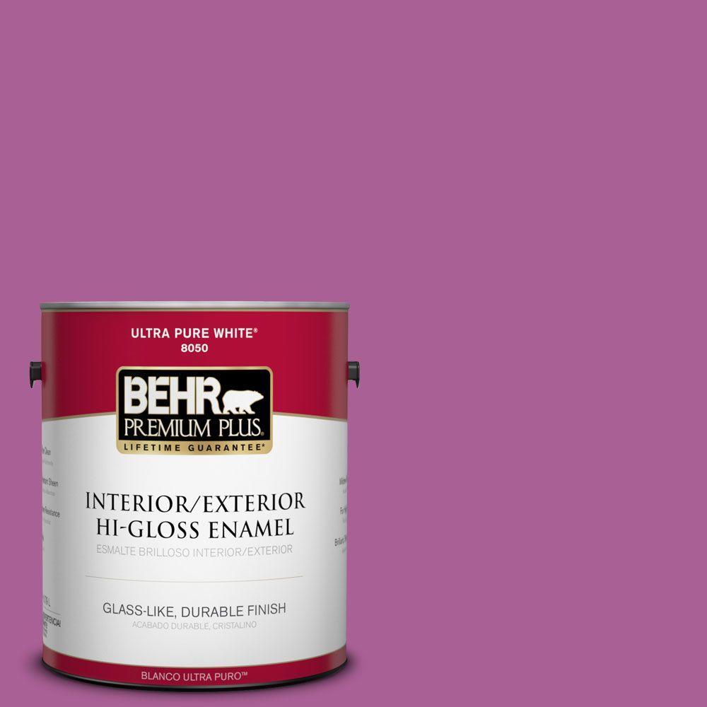 BEHR Premium Plus 1-gal. #680B-6 Exotic Bloom Hi-Gloss Enamel Interior/Exterior Paint