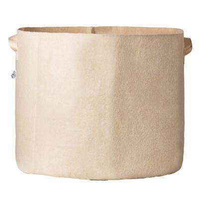 23.25 in. x 22 in. 45 Gal. Breathable Fabric Pot Bag with Handles Tan Felt Grow Pot