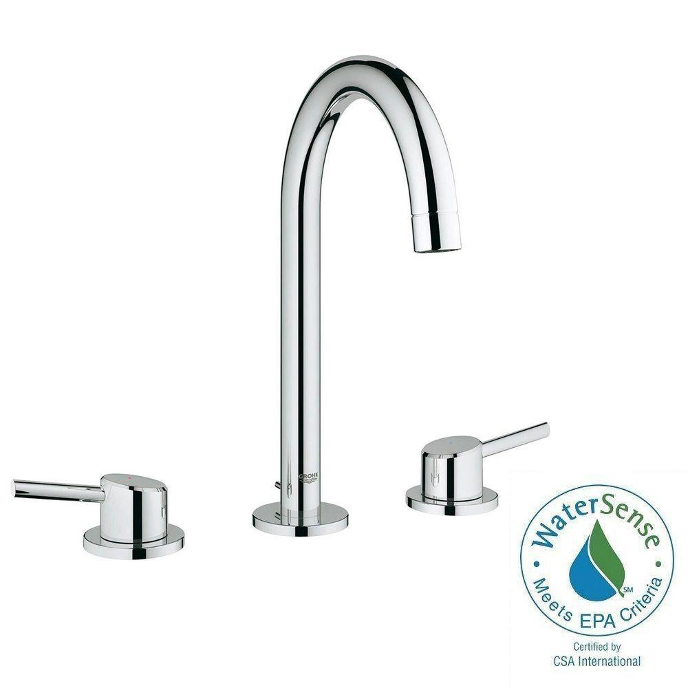 grohe bathroom sinks. grohe concetto 8 in. widespread 2-handle bathroom faucet in starlight chrome grohe sinks
