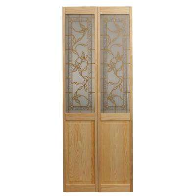 Bi fold doors interior closet doors the home depot glass over panel tuscany wood interior bi fold door planetlyrics Gallery