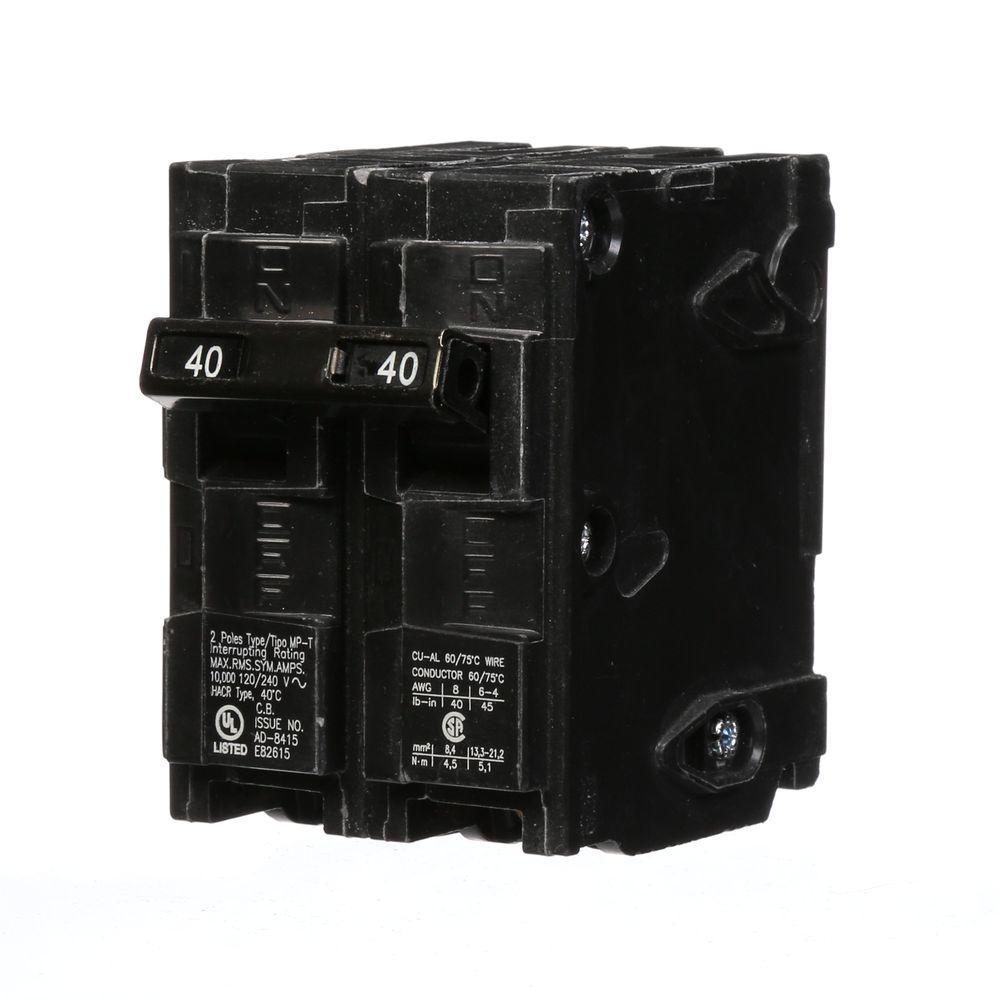 40 Amp Double-Pole Type MP Circuit Breaker