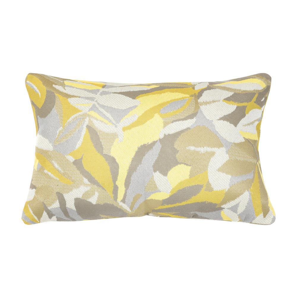 Dewey Yellow Lumbar Outdoor Accent Throw Pillow
