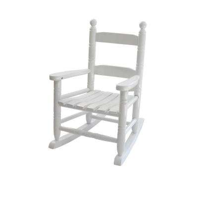 White 14.5 in. W x 18.5 in. D x 22 in. H Child Patio Rocking Chair
