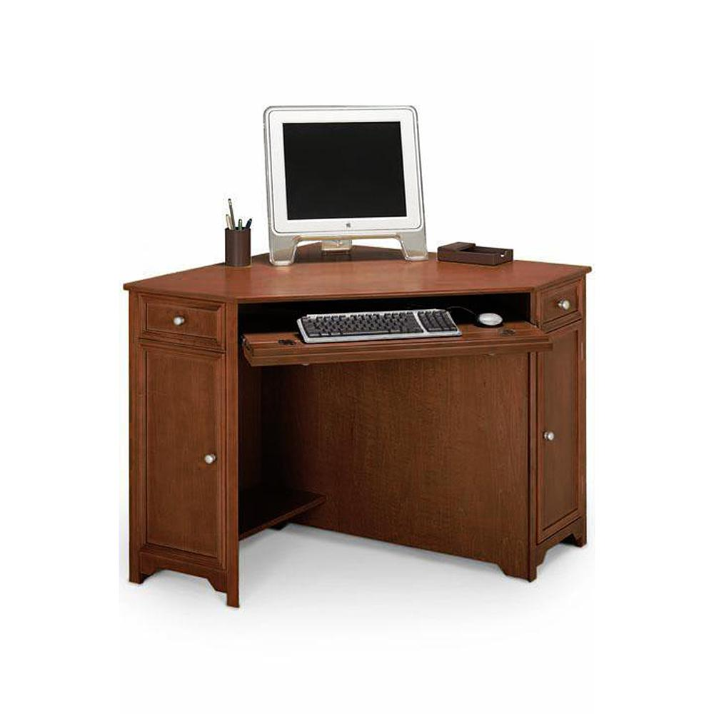 Home Decorators Collection Oxford Chestnut 50 In W Corner Computer Desk 5953900970 The Home Depot